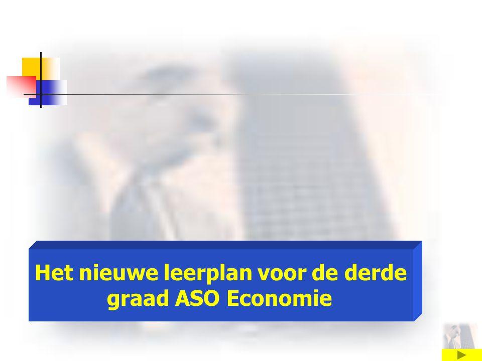 Het nieuwe leerplan voor de derde graad ASO Economie