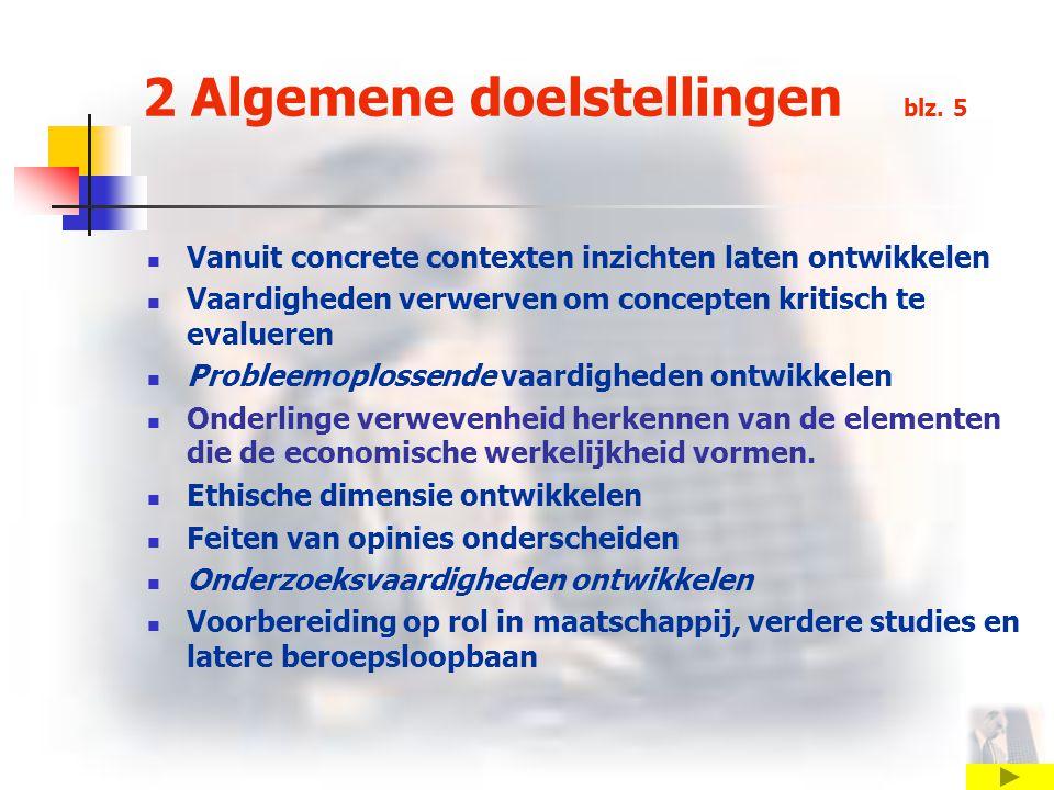 2 Algemene doelstellingen blz.