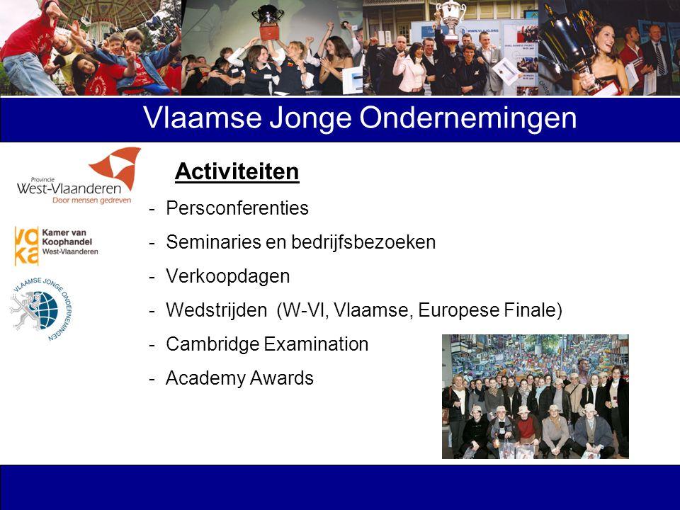 Activiteiten - Persconferenties - Seminaries en bedrijfsbezoeken - Verkoopdagen - Wedstrijden (W-Vl, Vlaamse, Europese Finale) - Cambridge Examination