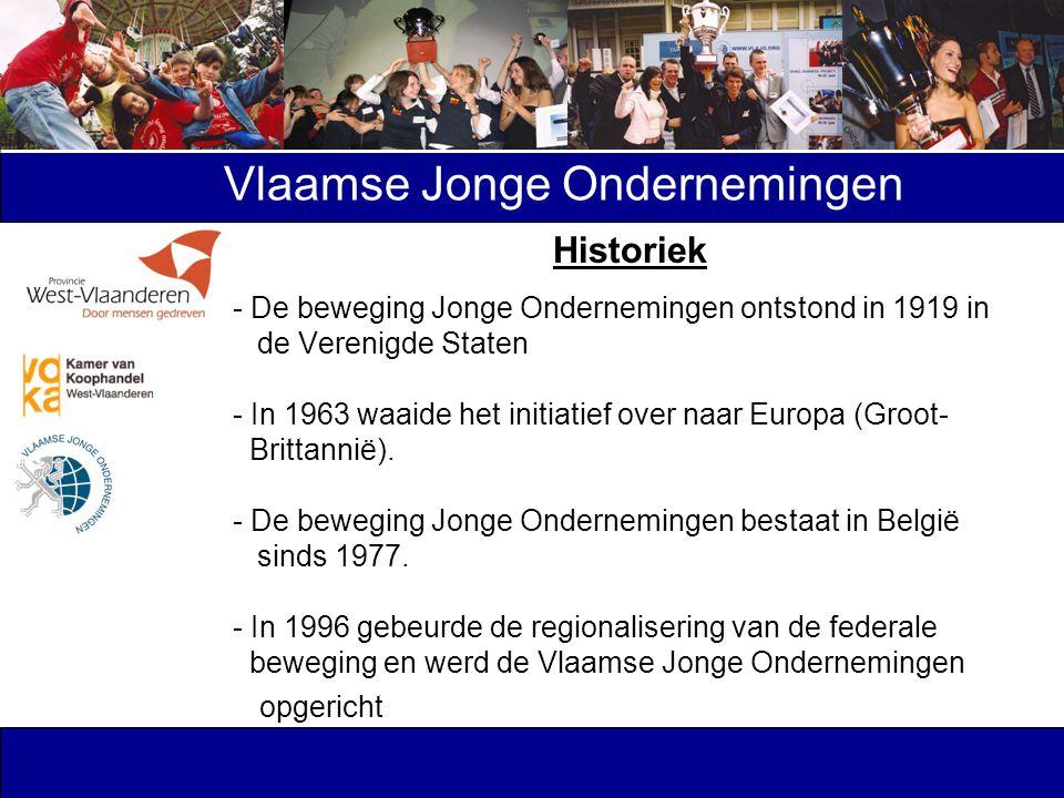 Historiek - De beweging Jonge Ondernemingen ontstond in 1919 in de Verenigde Staten - In 1963 waaide het initiatief over naar Europa (Groot- Brittanni