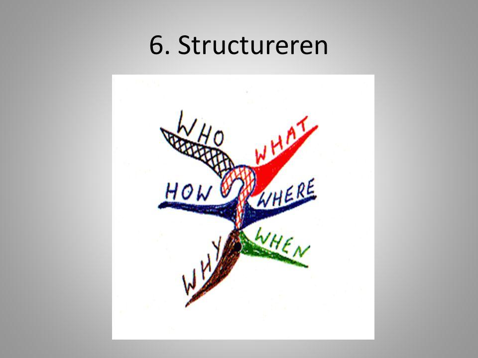 6. Structureren