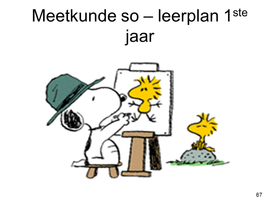 67 Meetkunde so – leerplan 1 ste jaar
