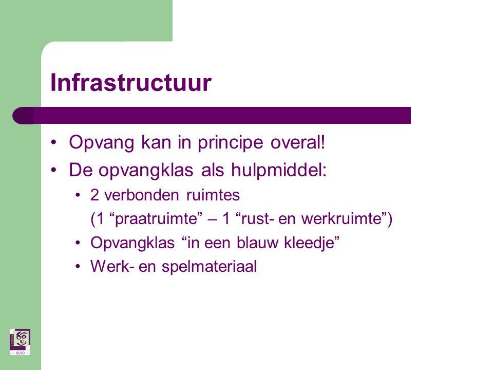 Infrastructuur Opvang kan in principe overal.