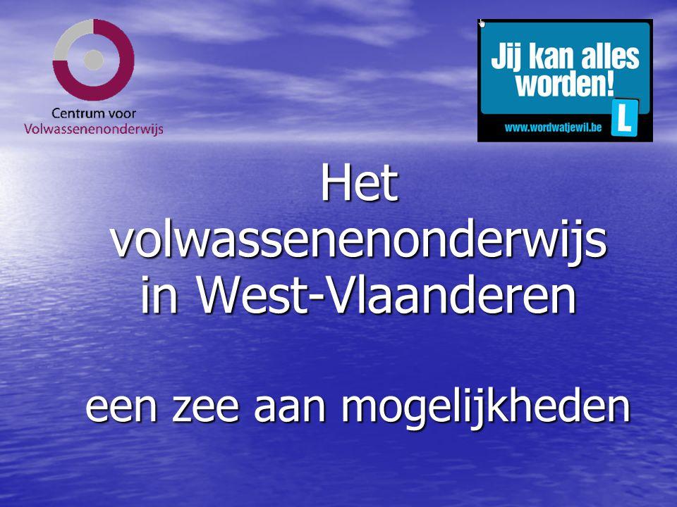 Het volwassenenonderwijs in West-Vlaanderen een zee aan mogelijkheden