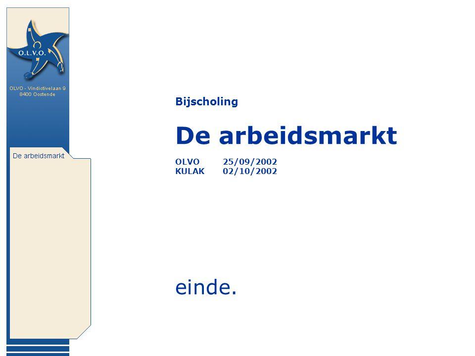 Bijscholing De arbeidsmarkt OLVO25/09/2002 KULAK02/10/2002 einde.