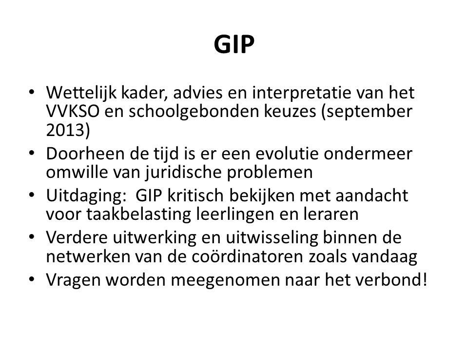 GIP Wettelijk kader, advies en interpretatie van het VVKSO en schoolgebonden keuzes (september 2013) Doorheen de tijd is er een evolutie ondermeer omw