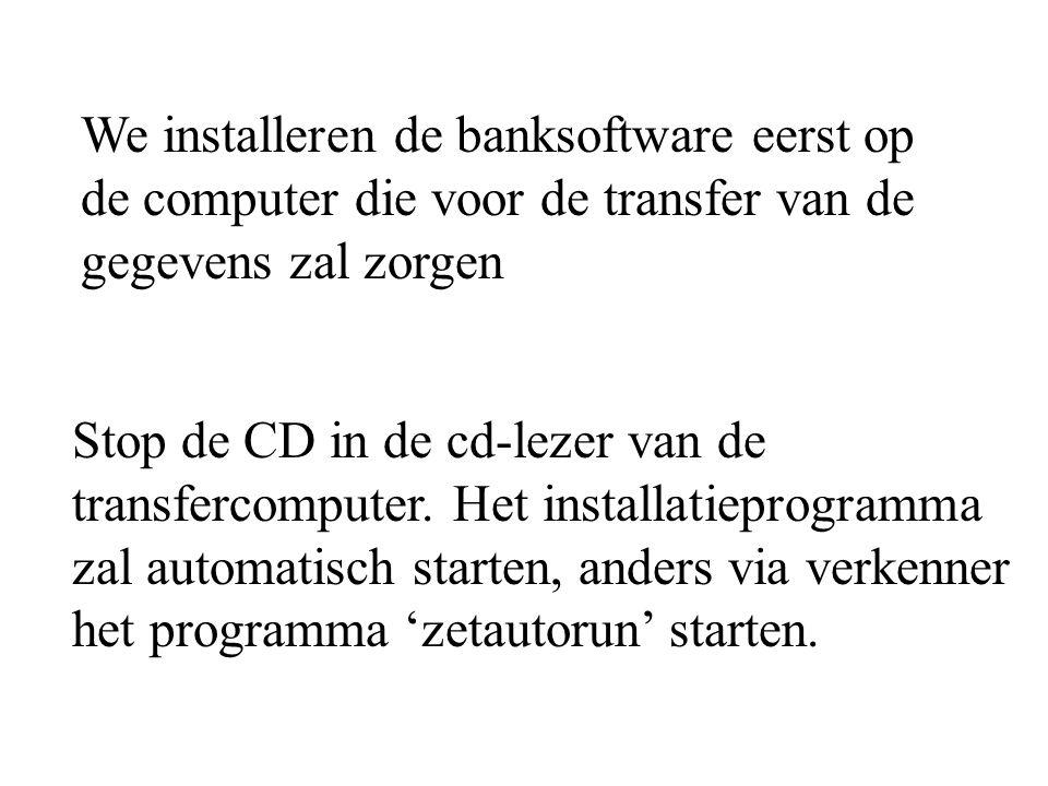 Stop de CD in de cd-lezer van de transfercomputer.