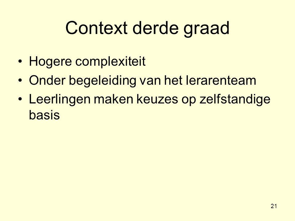 22 IO: competentiedoel – competentiehandeling – criteria Eenzelfde doel zal naargelang de context of concrete opdracht een andere inhoudelijke invulling krijgen.