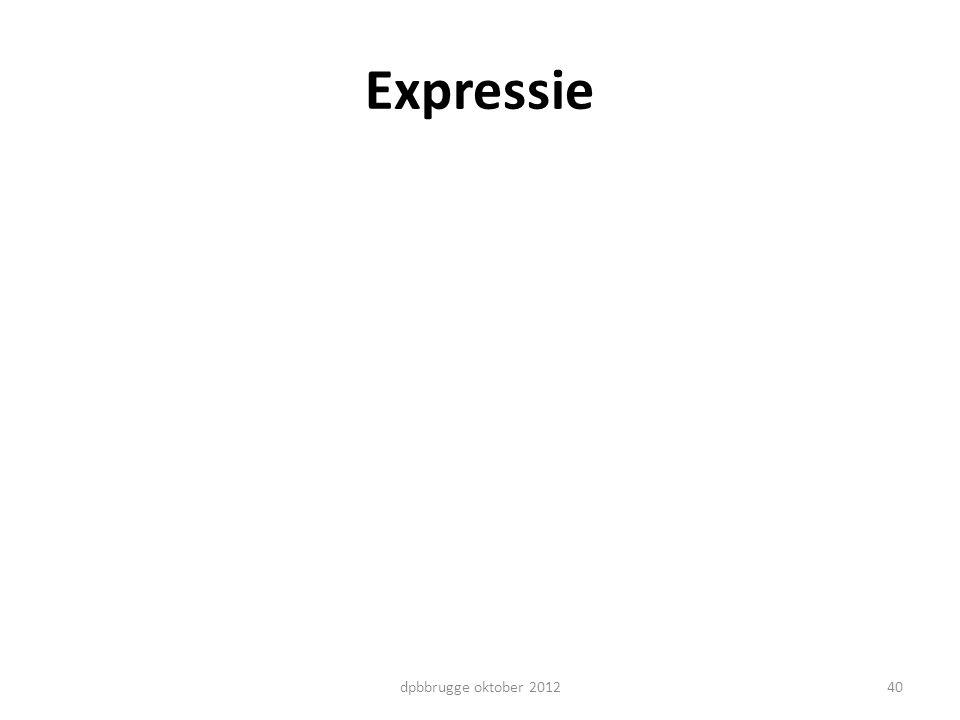 Expressie 40dpbbrugge oktober 2012