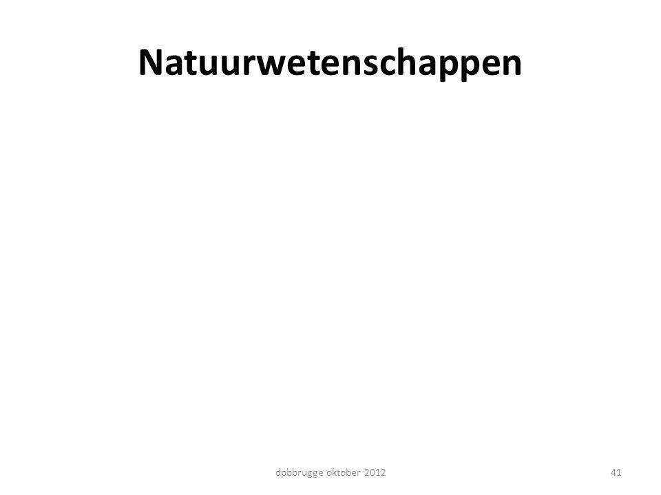 Natuurwetenschappen 41dpbbrugge oktober 2012