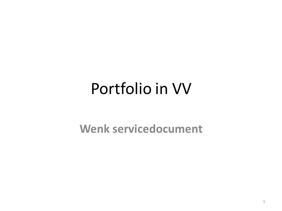 Portfolio in VV Wenk servicedocument 1