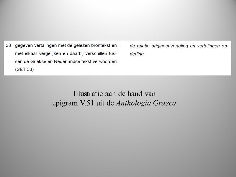 boek 2 Illustratie aan de hand van epigram V.51 uit de Anthologia Graeca