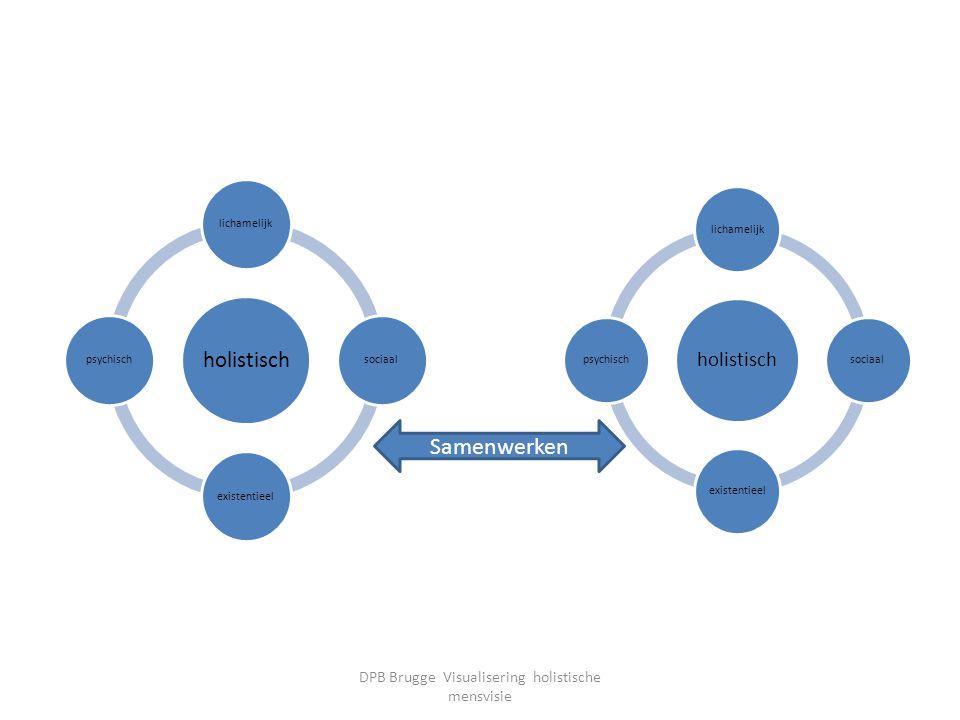 holistisch lichamelijksociaalexistentieelpsychisch holistisch lichamelijksociaalexistentieelpsychisch Samenwerken DPB Brugge Visualisering holistische