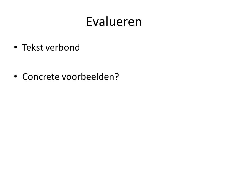 Evalueren Tekst verbond Concrete voorbeelden?