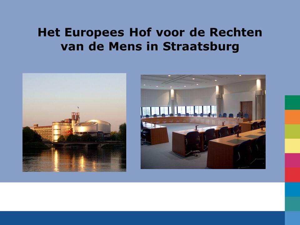 Het Europees Hof voor de Rechten van de Mens in Straatsburg