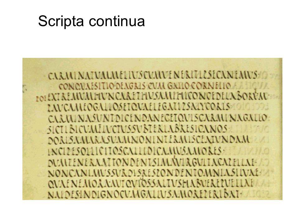 Scripta continua