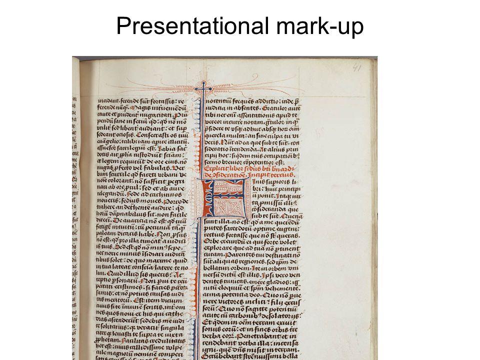 Presentational mark-up