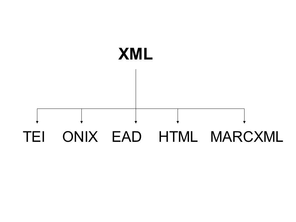 XML TEIONIXEADMARCXMLHTML