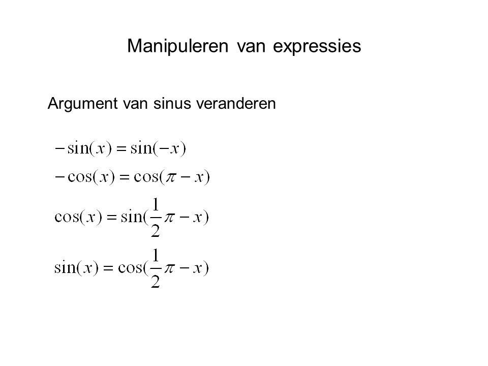 Manipuleren van expressies Argument van sinus veranderen