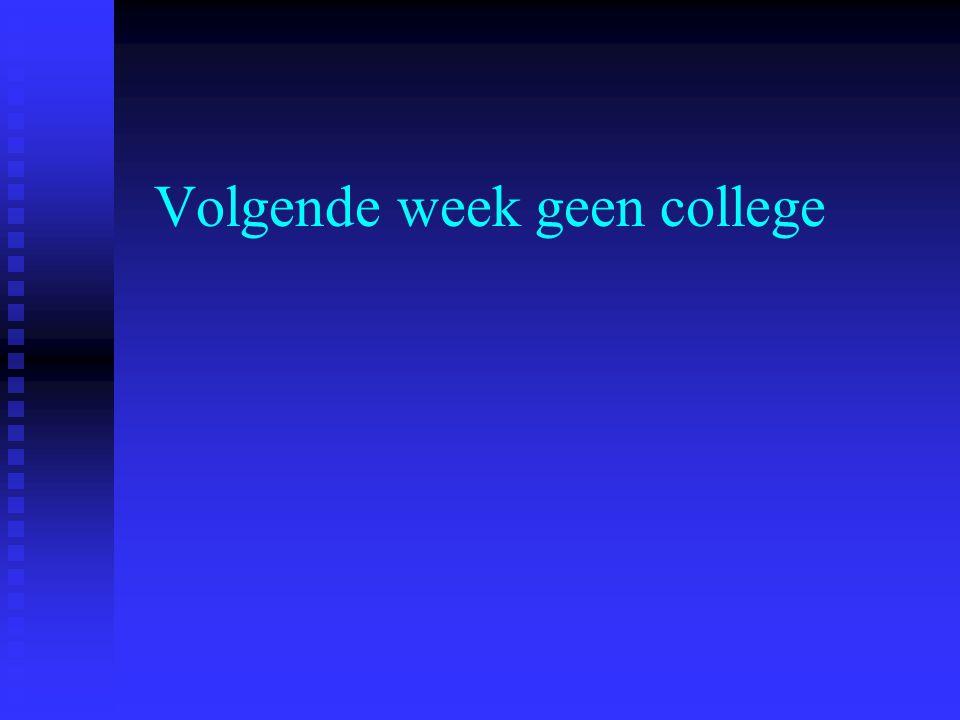 Volgende week geen college