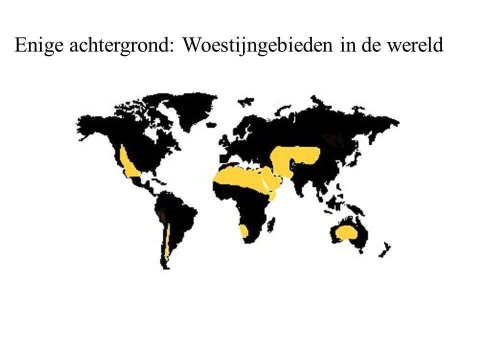 Enige achtergrond: Woestijngebieden in de wereld