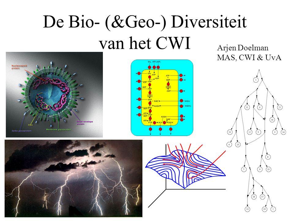 De Bio- (&Geo-) Diversiteit van het CWI Arjen Doelman MAS, CWI & UvA