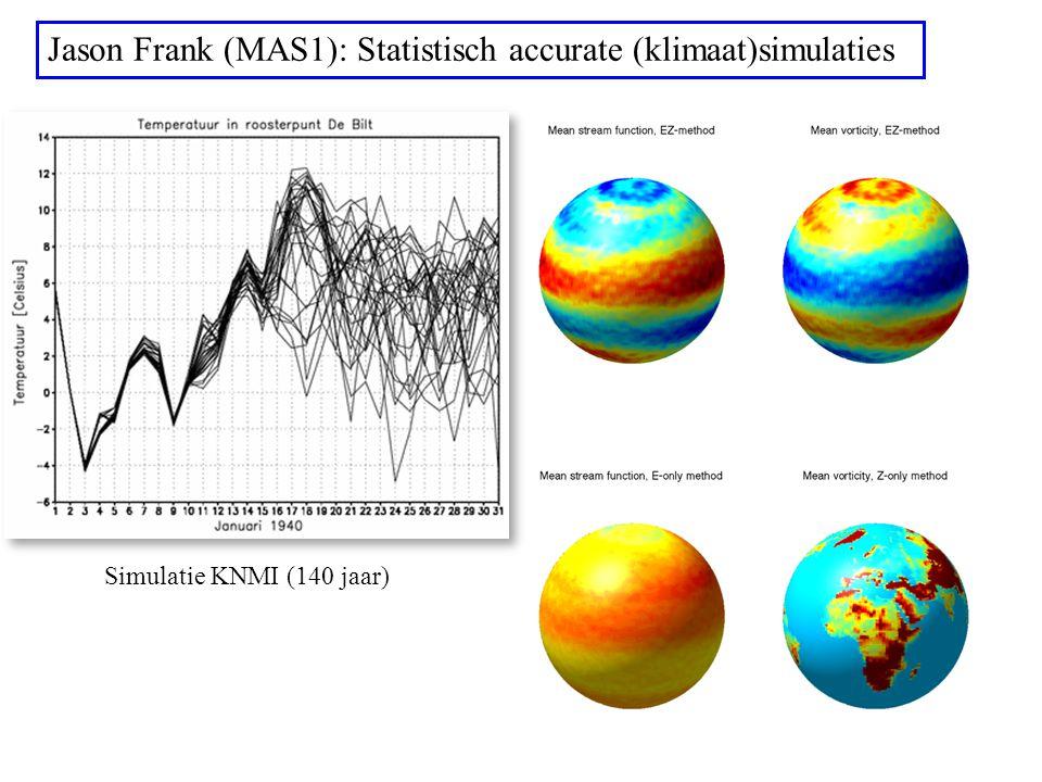 Jason Frank (MAS1): Statistisch accurate (klimaat)simulaties Simulatie KNMI (140 jaar)