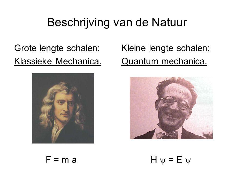 Beschrijving van de Natuur Grote lengte schalen: Klassieke Mechanica.