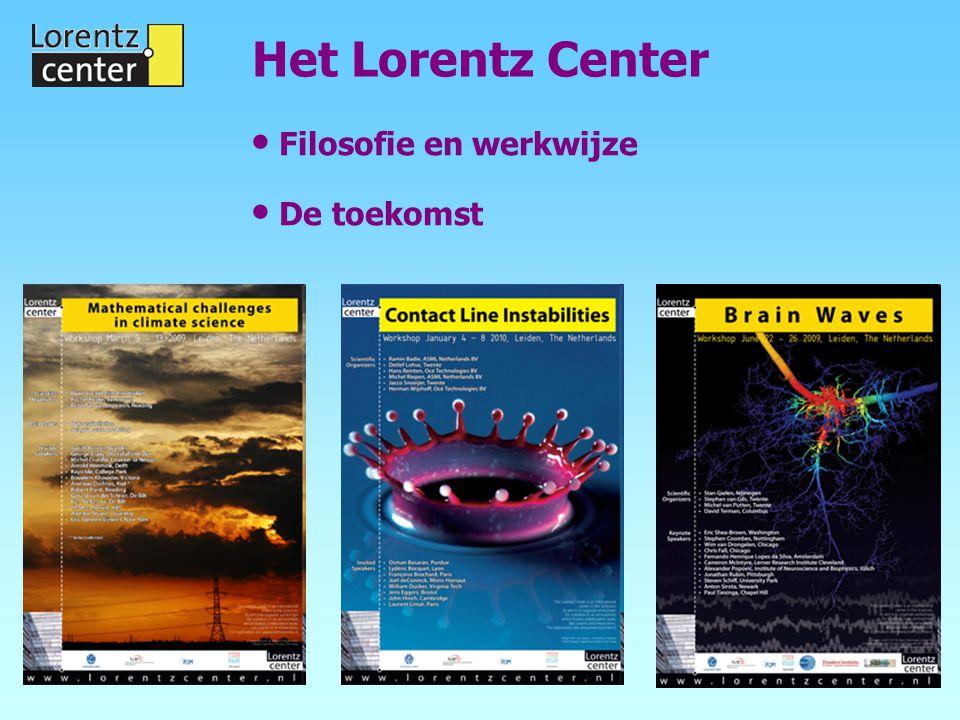 Filosofie en werkwijze De toekomst Het Lorentz Center