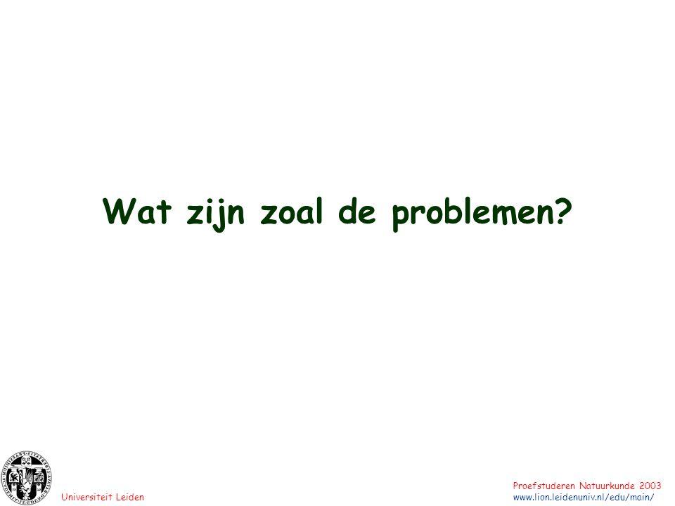 Universiteit Leiden Proefstuderen Natuurkunde 2003 www.lion.leidenuniv.nl/edu/main/ 1 A 1 1 0 0 0 Detector 0 gaat klikken als of het onderste, of het bovenste pad wordt geblokkeerd.