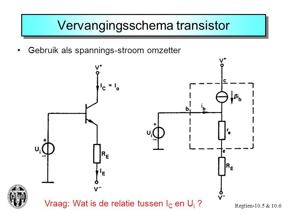 Transistor als spanningsversterker Regtien-10.7 & 10.10 Instelling werkpunt is heel belangrijk !.