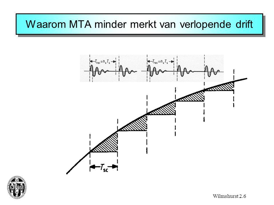 Waarom MTA minder merkt van verlopende drift Wilmshurst 2.6