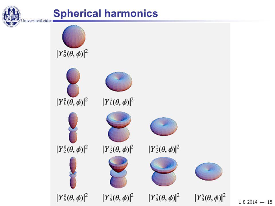 1-8-2014  15 Spherical harmonics