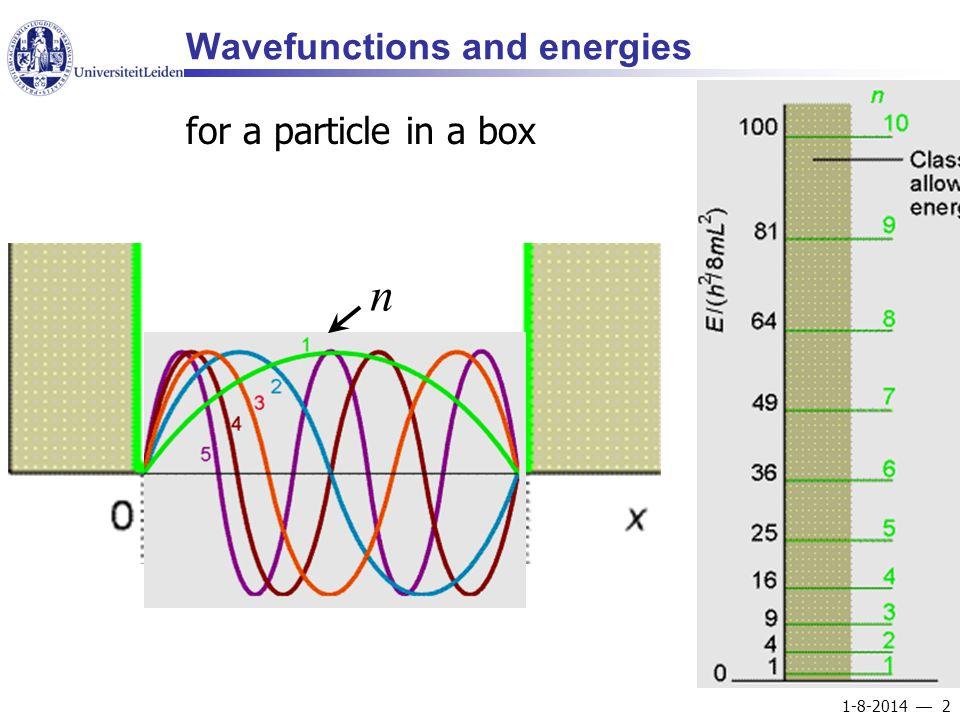 1-8-2014  3 Probability density energy level separation: