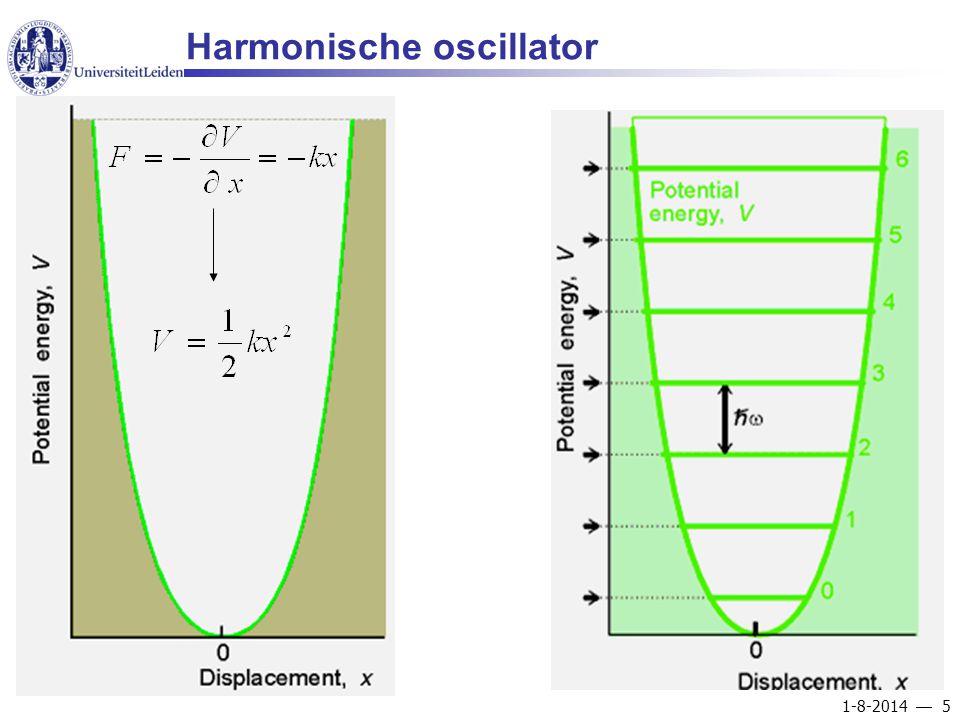 1-8-2014  5 Harmonische oscillator