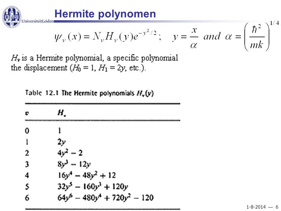1-8-2014  6 Hermite polynomen