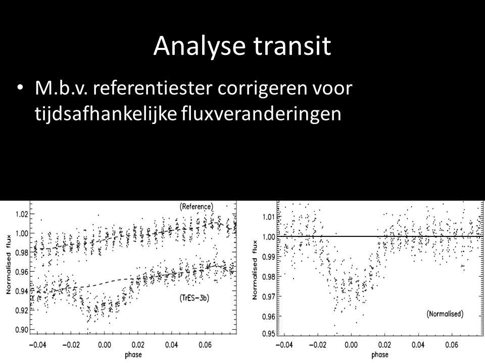 Analyse transit M.b.v. referentiester corrigeren voor tijdsafhankelijke fluxveranderingen