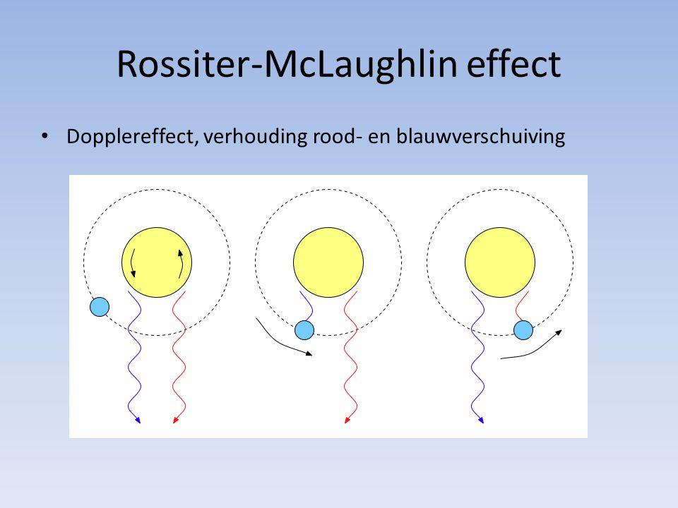 Rossiter-McLaughlin effect Dopplereffect, verhouding rood- en blauwverschuiving