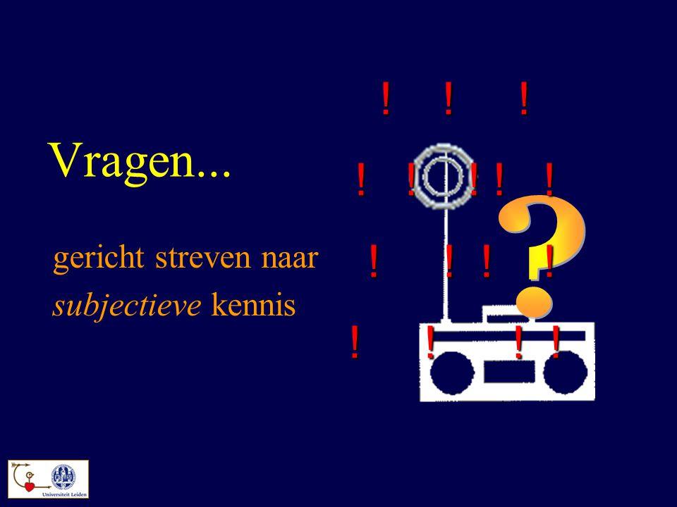 Vragen... gericht streven naar subjectieve kennis ! ! ! ! ! ! ! ! ! ! ! ! ! ! ! ! ! ! ! !