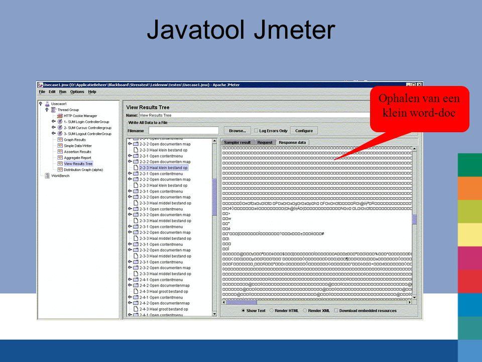 Javatool Jmeter Ophalen van een klein word-doc