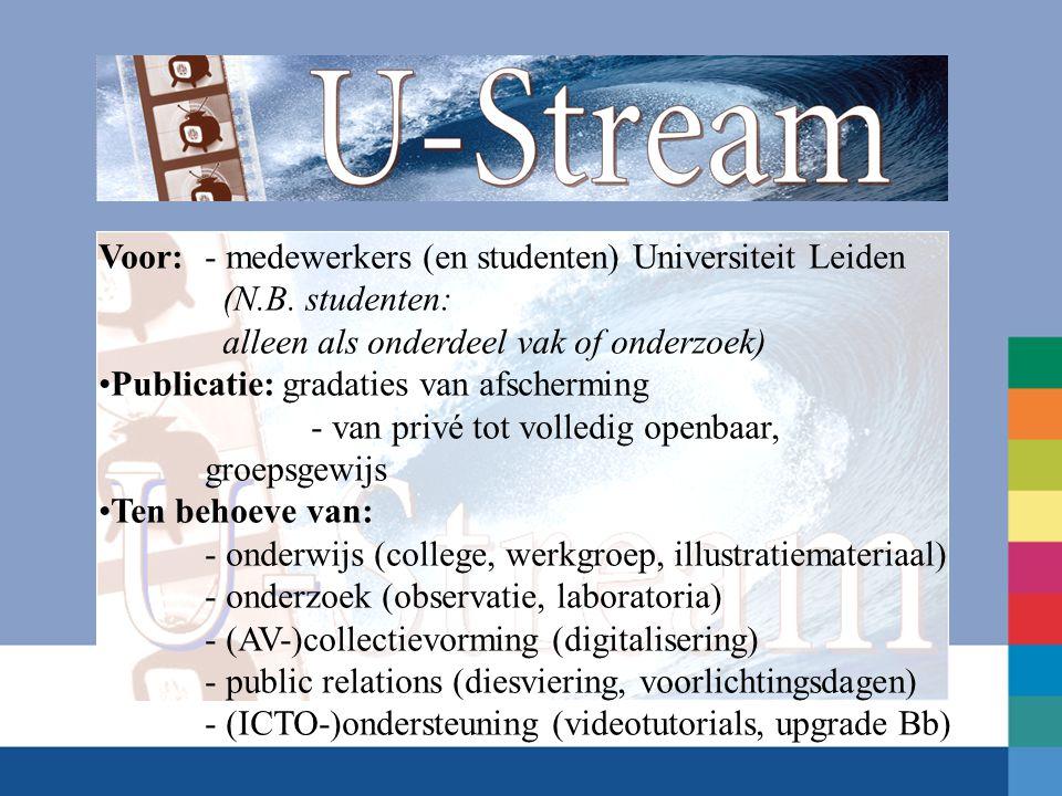 Voor:- medewerkers (en studenten) Universiteit Leiden (N.B. studenten: alleen als onderdeel vak of onderzoek) Publicatie: gradaties van afscherming -