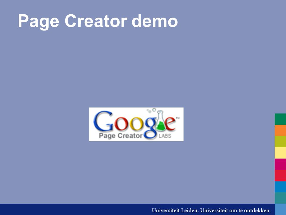 Page Creator demo
