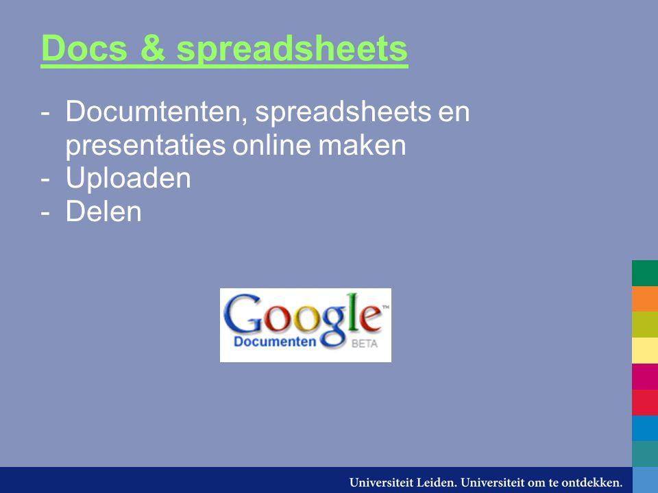 Docs & spreadsheets demo