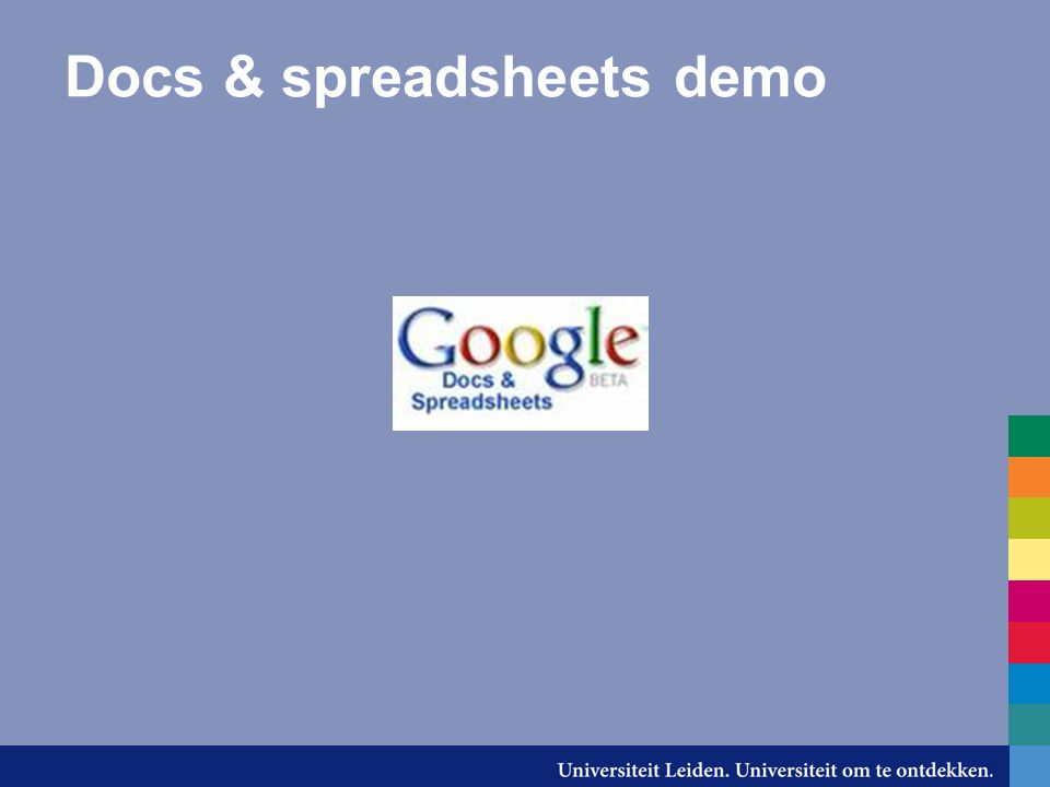 Docs & spreadsheets demo