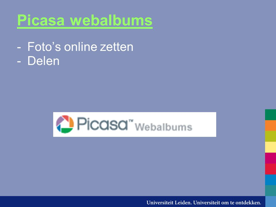 Picasa webalbums -Foto's online zetten -Delen