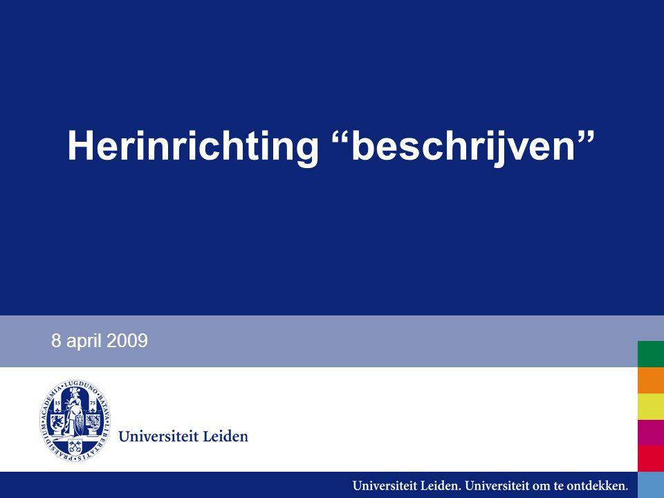 """Herinrichting """"beschrijven"""" 8 april 2009"""