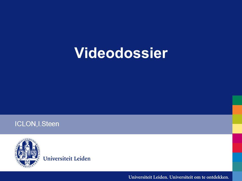 Videodossier ICLON,I.Steen