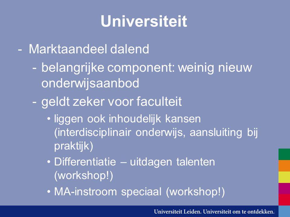 Regie -In startblokken gaan staan… -Reorganisatieplan: al belangrijke elementen -Instelling instituten, OSZ, e.d.
