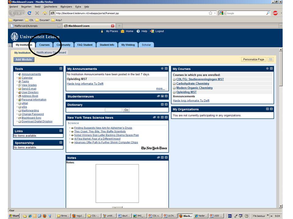USIS Registreren voor studie onderdelen