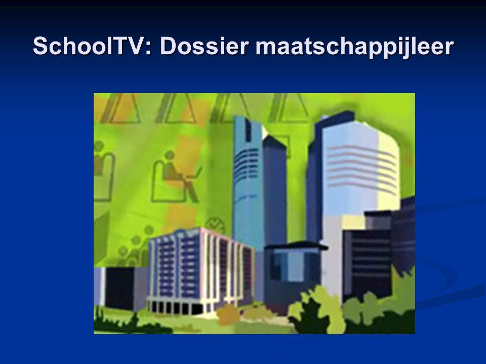 SchoolTV: Dossier maatschappijleer